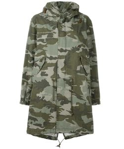 MR & MRS Italy | Camouflage Print Parka Small