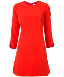 Nellie Partow | Round-Hem Shift Dress 8 Silk/Polyester/Spandex/Elastane