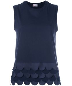 Red Valentino   Scalloped Hem Top Size Small