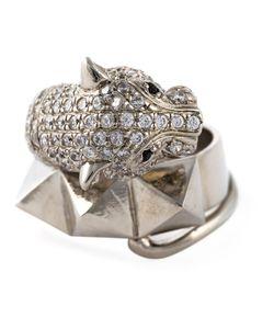 IOSSELLIANI | Metal Instinct Cheetah Ring 54