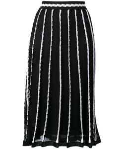Missoni | M Stripe Panel Midi Skirt Size Cotton/Polyamide/