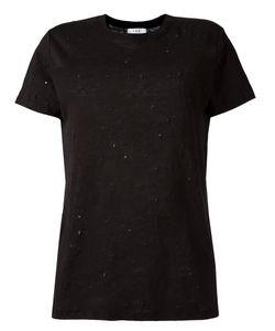 Iro | Ripped Trim T-Shirt Xs Linen/Flax