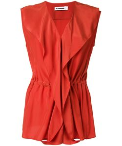 Jil Sander | Wrap Sleeveless Blouse 40 Silk Crepe
