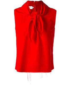 Marques Almeida | Marquesalmeida Knot Detail Sleeveless Blouse Large Polyamide