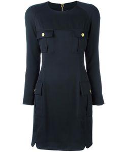 Pierre Balmain | Flap Pockets Dress 40 Viscose/Spandex/Elastane/Polyester/Spandex/Elastane