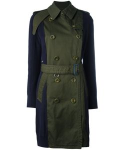 Sacai | Contrast Sleeve Trench Coat