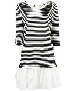 BOUTIQUE MOSCHINO | Striped Ruffle Hem Dress Size 38