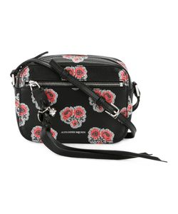 Alexander McQueen | Skull Poppy Print Camera Shoulder Bag Leather