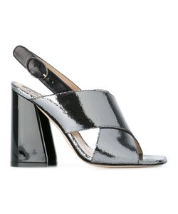 Paula Cademartori | Chunky Heel Sandals 39 Calf Leather/Patent