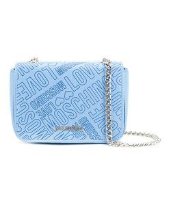 Love Moschino   Logo Embossed Crossbody Bag