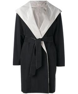 Max Mara | Пальто С Поясом И Капюшоном