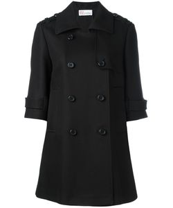Red Valentino | Three-Quarters Sleeve Double-Breasted Coat 38 Cotton/Acetate/Polyester