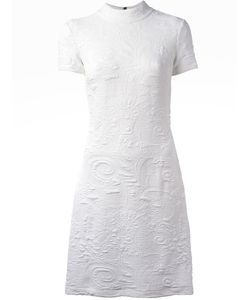 Versace Jeans | Embroidery Detail Dress 42 Polyester/Spandex/Elastane/Viscose