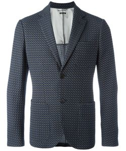 Giorgio Armani | Textu Button Up Blazer 50 Viscose/Cotton/Polyamide/Spandex/Elastane