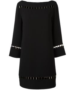Versace Collection | Perforated Details Dress 48 Polyester/Viscose