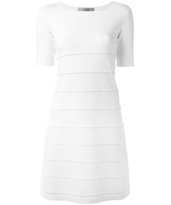 D.exterior | Embroide Stripes Dress Large Acrylic/Polyamide/Polyester/Wool