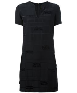 Versace Jeans | Frayed Trim Dress 44 Polyester/Acetate/Viscose