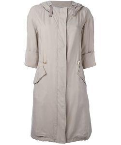 Herno | Three-Quarters Sleeve Hooded Coat Size 44