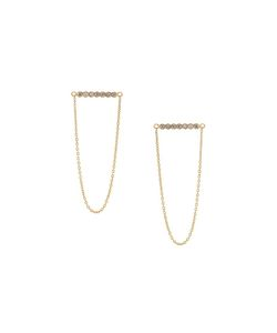 Yannis Sergakis | Diamond And Chain Drop Earrings