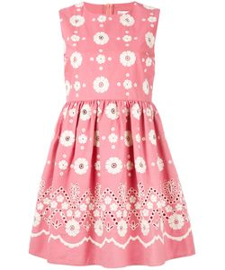 Red Valentino | Embroidered Flower Dress Size 40