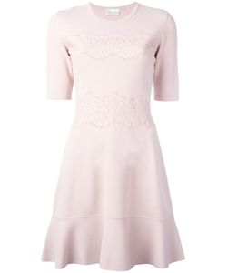 Red Valentino | Lace Overlay Skater Dress Medium Polyamide/Viscose