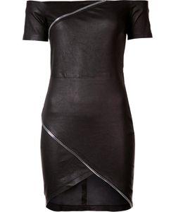 RTA | Zip Detail Mini Dress Xs Lamb Skin