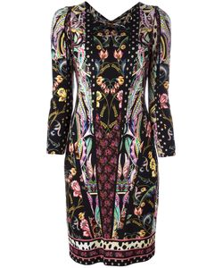 Roberto Cavalli | Print V-Neck Dress Size 48