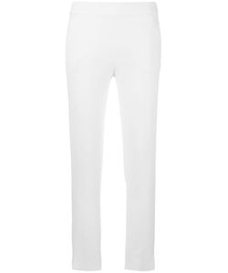 Emporio Armani | Side Zip Cropped Trousers 38 Viscose/Spandex/Elastane