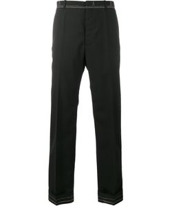 Maison Margiela | Stitched Slim-Fit Trousers 46 Wool/Polyamide/Carbon/Cotton
