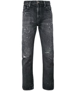 Neighborhood | Ripped Knees Tape Jeans Small Cotton