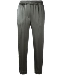 Brunello Cucinelli | Striped Sides Cropped Trousers 40 Acetate/Viscose/Polyester