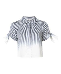 Milly   Striped Cold Shoulder Shirt