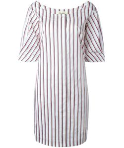Isa Arfen | Scoop Neck Striped Dress 8 Cotton