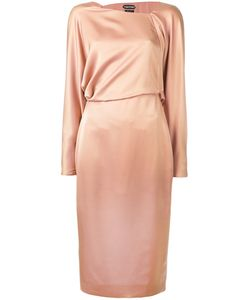 Tom Ford | Asymmetric Neckline Dress 40 Silk