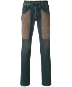 Jeckerson | Contrast-Patch Fitted Jeans Men 31