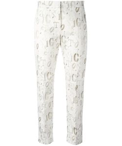 Max Mara | Skinny Cropped Trouser In Alphabet Print 44
