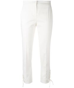 Max Mara | Skinny Cropped Trouser With Lace-Up Side Detail