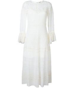 Saint Laurent | Broderie Anglaise Long Dress 40 Silk/Viscose/Cotton