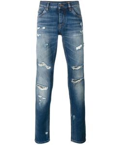 Dolce & Gabbana | Ripped Detail Jeans 52 Cotton/Zamac/Calf