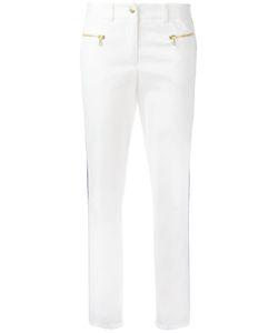 Michel Klein | Side Stripe Skinny Trousers 40 Cotton