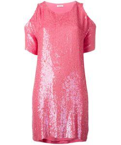 P.A.R.O.S.H. | Cold Shoulder Sequin Dress Pvc/Viscose