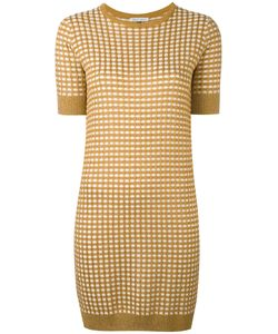 Bella Freud   Sparkle Gingham Knit Dress Rayon/Wool/
