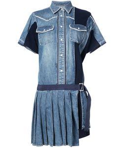 Sacai | Джинсовое Платье С Плиссировкой