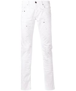 Les Hommes | Paint Splatter Slim-Fit Jeans 32 Cotton/Spandex/Elastane