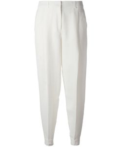 Jil Sander Navy | High Waisted Trousers 36 Cupro/Linen/Flax/Rayon/Cupro