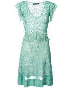 Roberto Cavalli   Полупрозрачное Платье С V-Образным Вырезом
