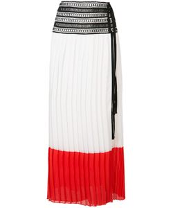 Oscar de la Renta | Pleated Colour-Block Skirt 6