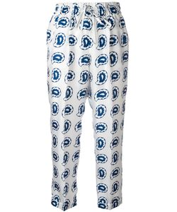 Kiton | Paisley Print Cropped Trousers 46 Silk