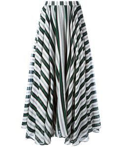 MSGM | Striped A-Line Maxi Skirt