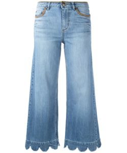 Red Valentino | Wide Leg Scalloped Hem Jeans 25